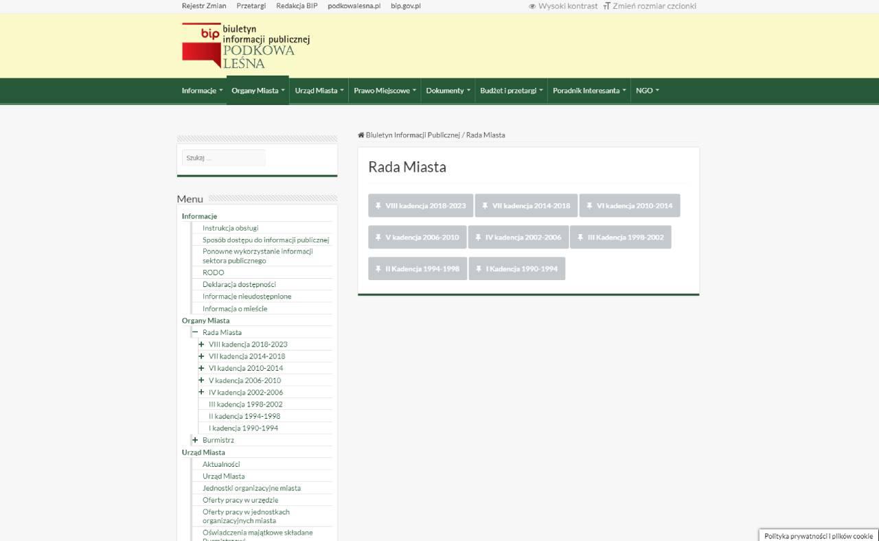 ROAN24 BIP Stadtverwaltung Podkowa Leśna
